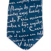 Corbata Azul detalle
